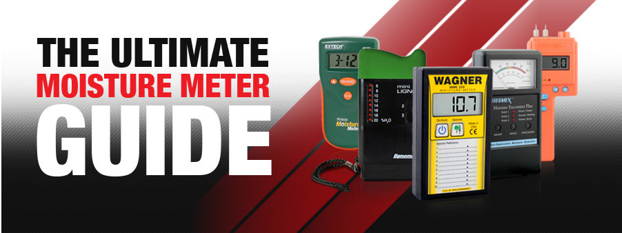 Webpage banner image reading The Ultimate Moisture Meter Guide